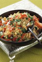 Bulgur wheat salad with tomatoes
