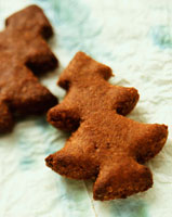 Nut biscuits in shape of fir tree