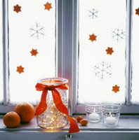 Wintry decoration of candles