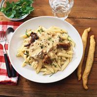 Pasta with mushroom ragout