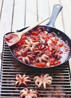 Grilled squid Mediterranean style