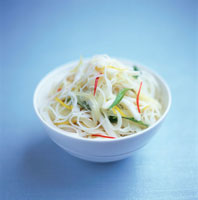 Glass noodle with peppers and onions