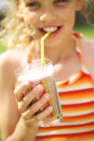 Girl drinking chocolate shake