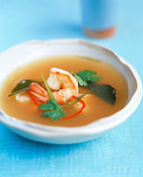 Lemon grass soup with shrimps (Thailand)