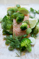Salmon fillet in parchment paper