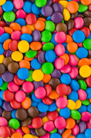 Many coloured Smarties