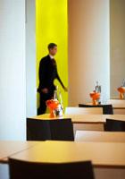 Modern restaurant (interior)