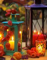 Lanterns with pillar candles