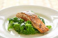 Rosemary salmon with orange vinaigrette