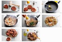 Preparing 'bistecchine alla napoletana' 22199035259| 写真素材・ストックフォト・画像・イラスト素材|アマナイメージズ