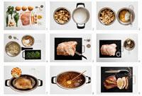 Preparing stuffed breast of veal 22199035280| 写真素材・ストックフォト・画像・イラスト素材|アマナイメージズ