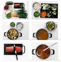 Preparing poached beef fillet 22199035284| 写真素材・ストックフォト・画像・イラスト素材|アマナイメージズ