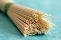 Bundle of Japanese somen noodles (lying)