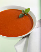 Tomato sauce in white bowl