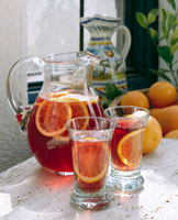 Sangria with oranges