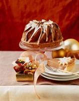 Chocolate mousse cake and gugelhupf
