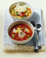 Fish & tomato soup and potato soup 22199036226| 写真素材・ストックフォト・画像・イラスト素材|アマナイメージズ