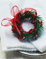 Spruce wreath with stars