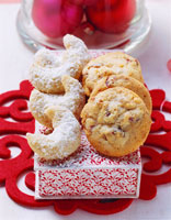 Coconut crescents and cookies