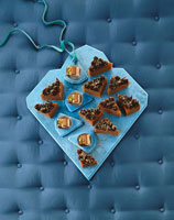 Winter tea slices & chocolate nut slices
