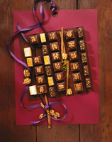 Chocolate squares and �fResidence slices�f