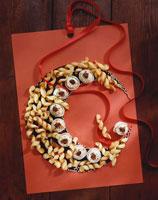 Spiral biscuits and tiramisu sweets
