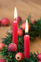 Christmas yew wreath
