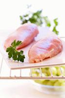 Chicken breast fillets in refrigerator