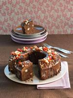 Ring-shaped whisky chocolate cake 22199037154| 写真素材・ストックフォト・画像・イラスト素材|アマナイメージズ