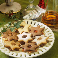 Christmas biscuits: jelly stars