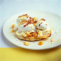 Pancake with vanilla ice cream 22199038006  写真素材・ストックフォト・画像・イラスト素材 アマナイメージズ