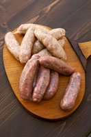 Two different types of sausages