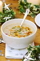 Hazelnut soup with chilli oil 22199038350| 写真素材・ストックフォト・画像・イラスト素材|アマナイメージズ