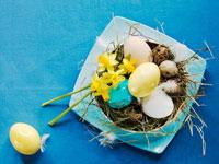 Eggs in Easter nest