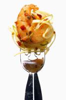 Taglierini with shrimps