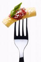 Tortiglioni with tomato sauce