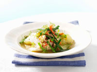 Fish stew with perch and crabmeat