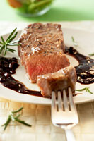 Rump steak with fruity sauce