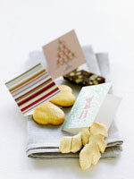 Christmas biscuits with small cards