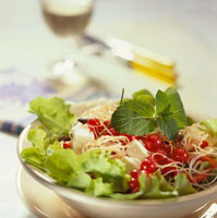 Gourmet salad with glass noodles