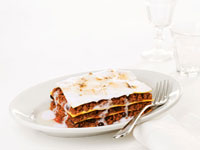 Lasagne with clay balls and shampoo