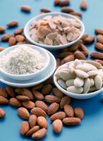 Dishes of Assorted Almonds