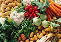 Various spring vegetables