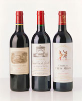 Three fine red wines from Bordeaux