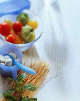 Still life with tomatoes mozzarella