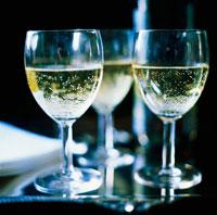 Three Glasses of Sparkling White Wine