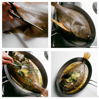 Preparing plaice, Miller�fs Wife style