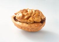 Half a walnut in its shell
