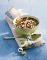 Alsatian lentil soup with sausage