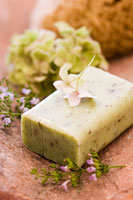 Herb and lavender soap thyme